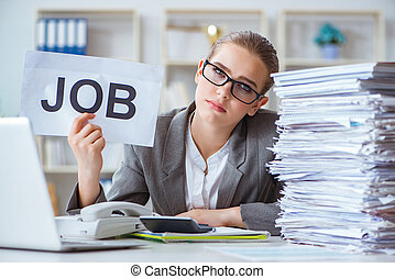 Female businesswoman boss accountant working in the office