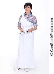 Female butcher