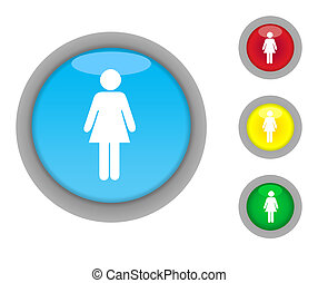 Female button icons