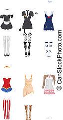 Female carnival costumes