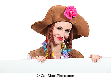 Female character with brown hat