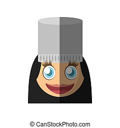 female chef emoticon cartoon design