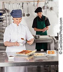 Female Chef Preparing Sweet Food