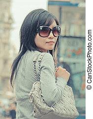 Female Chinese Tourist