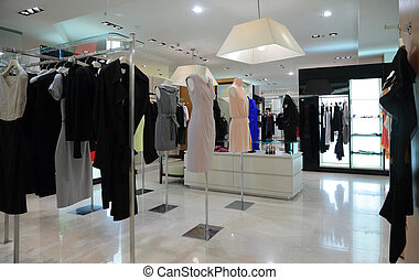 female clothing in shop