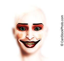 Female Clown Face