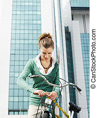female commuter