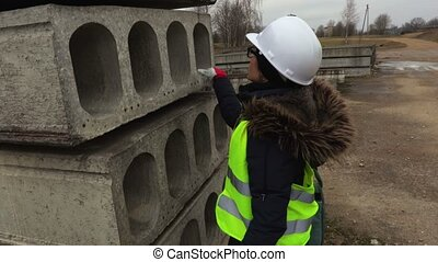 Female Contractor at a Work