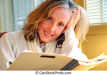 Female counselor. - Female counselor working in her office ...