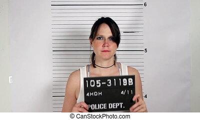 Female Criminal Mugshot - Police mug shots of a female...