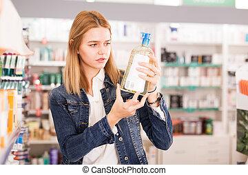 Female customer found medicines in pharmacy