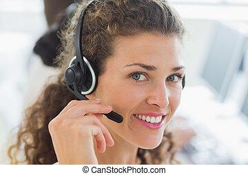 Female customer service agent