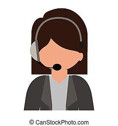 female customer service silhouette icon