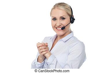 Female customer support executive