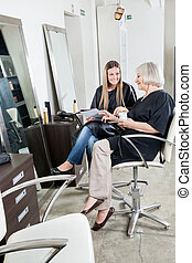 Female Customers At Hair Salon