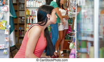Female Customers in Cosmetics Store