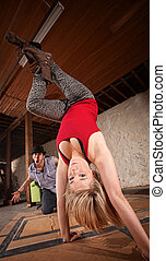 Female Dancer in Hand Stand