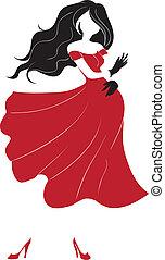Female dances flamenco