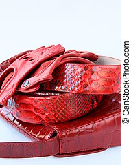 female decorative red bag