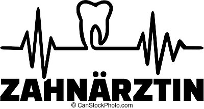 Female dentist german with heartbeat line