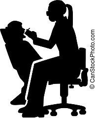 Female dentist silhouette