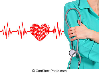 doctor and stethoscope - female doctor and stethoscope. ...