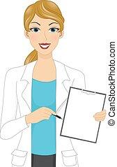 Female Doctor Board