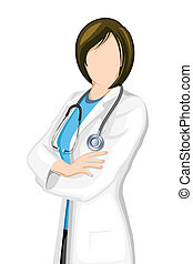Female Doctor - illustration of female doctor with...