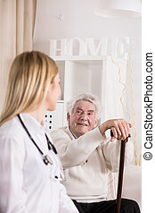 Female doctor during private visit