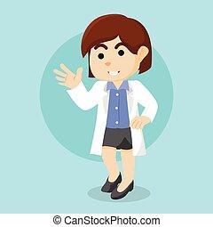 female doctor illustration design