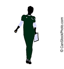 Female Doctor Illustration Silhouette