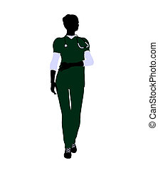 Female Doctor Illustration Silhouette