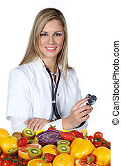 female doctor recommended vitamins