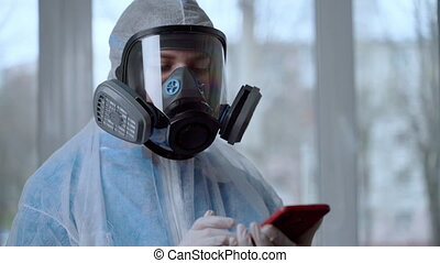 Female Doctor Wearing a Facemask and Suit sand informatiom ...