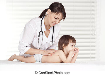 Female Doctor with child