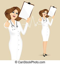 doctor with thumbs up gesture