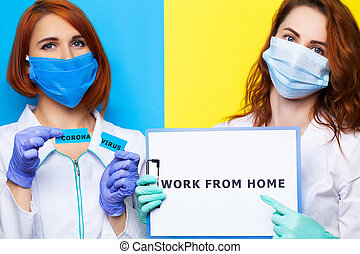 Female doctors are urged to stay and work at home.