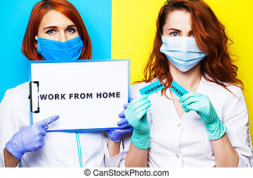 Female doctors are urged to stay and work at home