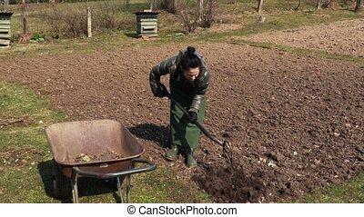 Female doing gardening jobs