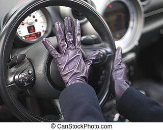 Female Driver In Stress