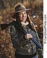 Female duck hunter - Waterfowl hunting, the female hunter ...