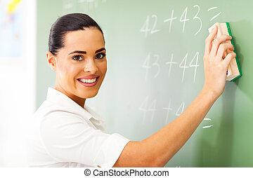 female elementary school teacher