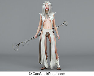 Female elf Mage
