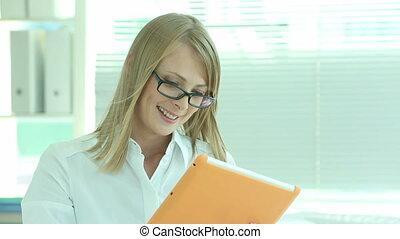 Female entrepreneur - Lovely business lady doing business...