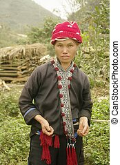 Female ethnic Dao red