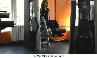 Female exercising their legs on the