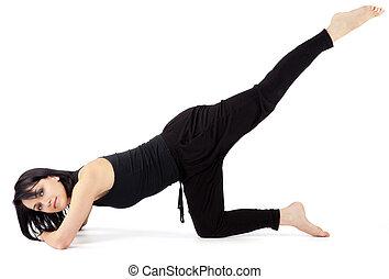 Female exercising