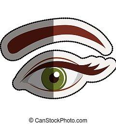 Female eye cartoon design