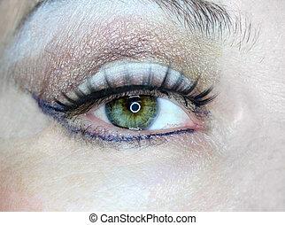 female eye macro