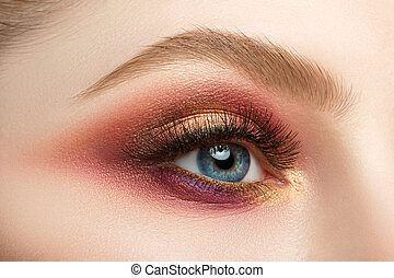 Female eye with beautiful make-up